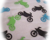 Dirt Bike Confetti MotorBike Die Cut for Scrapbook Card Making and Boys Birthday Party Decor Dirt Bike Party