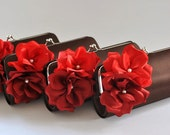 Set of 7 Small Bridesmaid clutches / Wedding clutches - CUSTOM COLOR