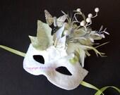 MASK- Winter Sage Mariposa - masquerade mask, Mardi Gras,ballroom, fairy,Venetian, Halloween