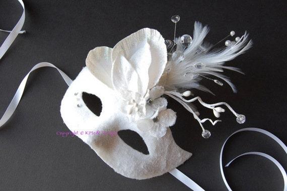 MASK- Crystal Snow Queen- masquerade mask, Mardi Gras,ballroom, fairy,Venetian, Halloween