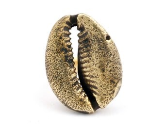 Cowrie Shell Ring - Shell Ring - Seashell Ring - Shell Jewelry - Gold Shell Ring