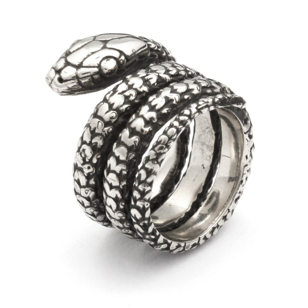 snake ring sterling silver snake ring ouroboros