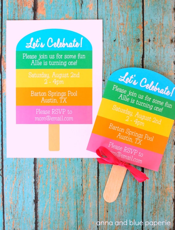 Rainbow Popsicle Birthday Party Printable By Annaandblue