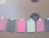 Monthly Photo Banner - 0-12 Months Banner - Photo Banner - Polka Dots - 1st Year Banner - Photo Prop - Party Decor - 1st Birthday Decor