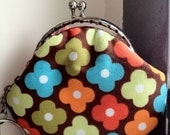 Free Shipping - Handmade Little Coin Purse Vintage Floral Pattern