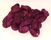 Superwash Bluefaced Leicester BFL Sock Yarn - Plum Pudding