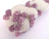 Core spun coiled beehive yarn, handspun, hand dyed, 100% Merino, 250 yards, 5 ounces.