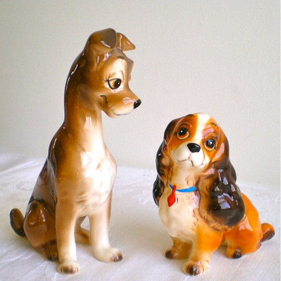 Disney Lady And The Tramp Disney Figurines 1950s