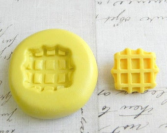 WAFFLE - Flexible Silicone Mold - Push Mold, Jewelry Mold, Polymer Clay Mold, Resin Mold, Craft Mold, Food Mold, PMC Mold