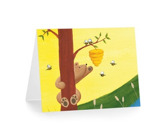 Bear Greeting Card - Bear Stationery - Woodland Blank Card
