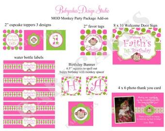 MOD Monkey Birthday - PLEASE READ Party Package Add-On