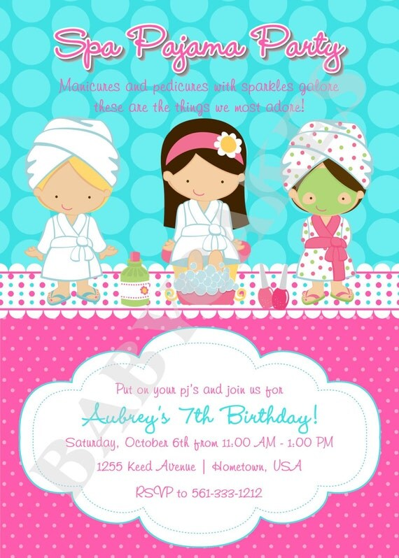 Pamper Party Invites as beautiful invitation ideas