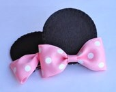 Minnie Mouse Ear Hair Clips (Set of 2)