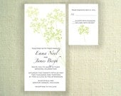Queen Anne's Lace Wedding Invitation and RSVP card