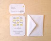Custom Elephant Baby Shower Invitations - Set of 8