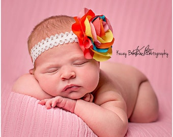 Baby headband, newborn headband, adult headband, child headband and photography prop COLORBURST headband