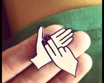 BSL (British Sign Language) Letter Brooch