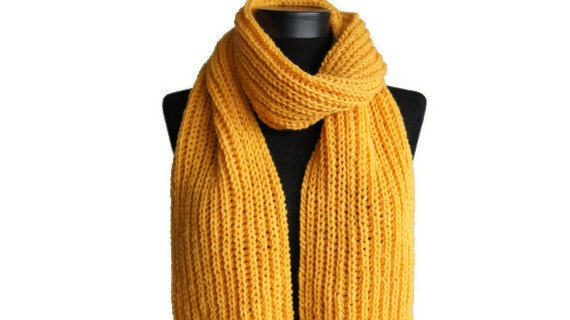 sale 20 yellow scarf winter knitted scarf mustard yellow