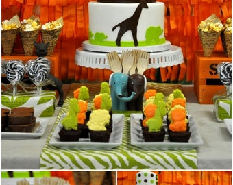 Mini Gourmet Chocolate Jungle animals (aprox. 24 pieces /  8oz.)