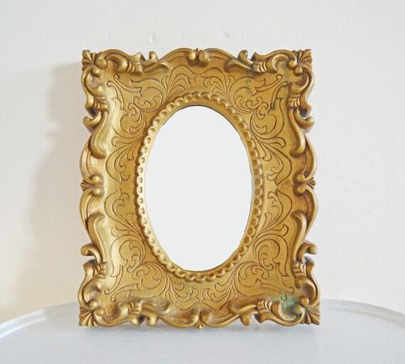Pretty Vintage Ornate Gold Mirror Oval Decorative Wall Mirror