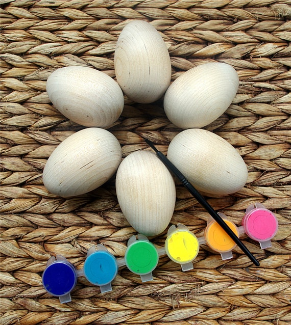 Reserved for pat by indiebambinotoys on etsy for Wooden eggs for crafts