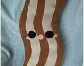 SALE Bacon Toast or Apple Pillow kawaii plush food toys