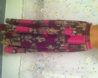 SMALL, Tiered Hippie Skirt