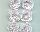 Mini White Roses Spiral Paper Flowers for Weddings, Bouquets, Events and Crafts