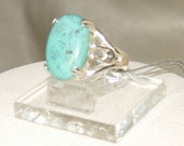 Sterling turquoise ring,Turquoise Valentine gift ring,Turquoise fashion ring,Turquoise sterling ring,December Birthstone ring, cocktail ring