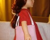 Sac à main cabas rose Lite pour poupées de 18 pouces - agp6