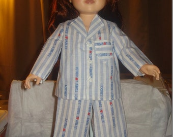 SALE - Looney Toons pajamas and slippers for 18 inch Dolls - ag11