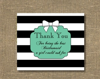 Bridesmaid Thank You / Wedding Thank You / Thanks For Being My Maid of Honor / Bridal Thank You Card