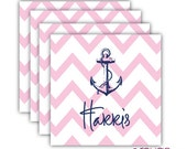 SEASIDE coasters with name - set of 4