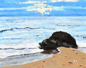 Laguna Beach Painting - Crystal Cove Landscape Painting
