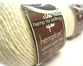 Hemp Cotton Yarn, Shell White DK Weight 130yd Hemp/Cotton/Modal Blend