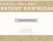 INSTANT DOWNLOAD - TWITTER Flag Button - Blog or Website Social Icon - Vintage Swallowtail Flag Button