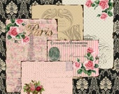 Shabby chic Vintage FRENCH Paris Ephemera BACKGROUND  Papers 331 postcards ATCs-ACEOs crafts, scrapbook cards,wallpapers Instant download