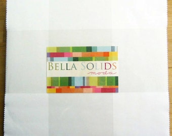 Moda Bella Solids White Layer Cake- (42) 10 inch Squares