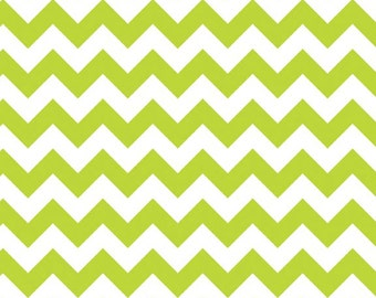 Riley Blake Lime Green  Medium Size Chevron- 1/2 yard