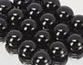 50% OFF LIST PRICE - One - 3mm Round Natural Black Onyx Cabochon