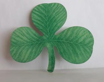 Vintage St. Patrick's Day Dennison shamrock tally card