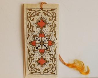 Art Deco Buzza bridge tally card Renaissance inspired design ephemera bookmark style scorecard