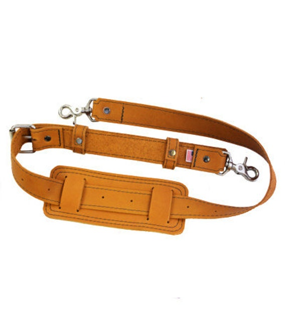 Leather Shoulder Strap -- Handmade in the U.S.A. - Sunrise