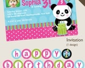 PANDA PARTY Birthday Party Package Event Printable diy Customizable
