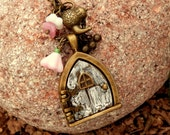 Little Forest Fairy Garden House Picture Locket Pendant Necklace