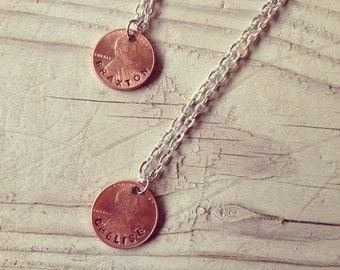 My Lucky Penny - Lucky Penny Necklace - Personalized Jewelry