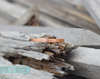 Handstamped Copper Cuff Bracelet-Handstamped  Bracelet-Copper Jewelry-Customized Bracelet
