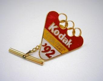 Kodak 92 olympic game collection pin