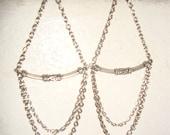 Atlantian Irie Goddess Earrings, Handmade Chain Earrings, Lotus Jewelry