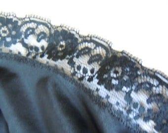Vintage Black Lace Slip Size 32 Women's Lingerie